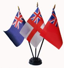 BRITISH NAVAL ENSIGNS - Table Flag Set